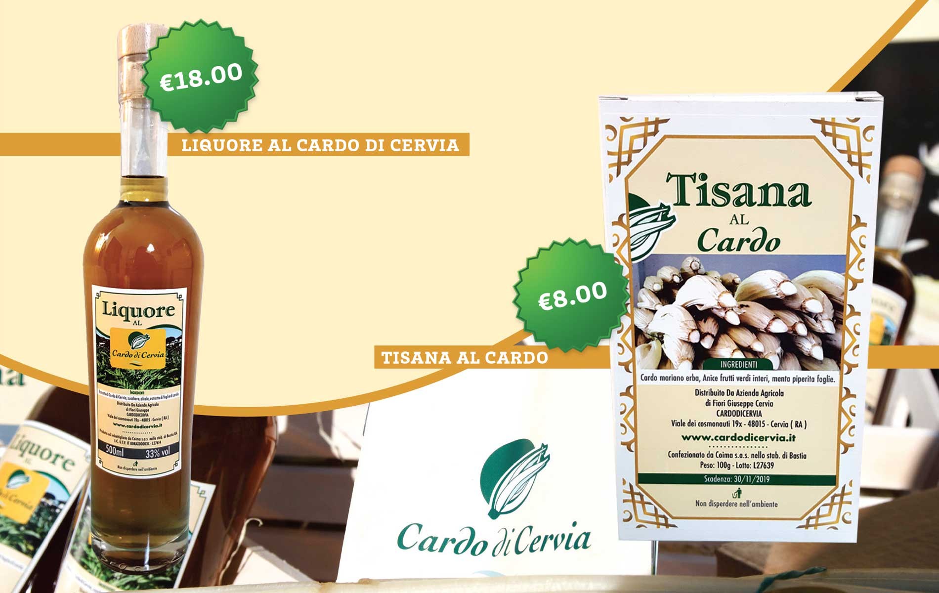 Prodotti Cardo di Cervia in vendita